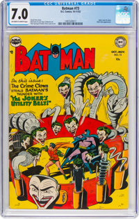 Batman #73 (DC, 1952) CGC FN/VF 7.0 Off-white to white pages