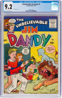 Jim Dandy #3 (Dandy Magazines, 1956) CGC NM- 9.2 Off-white to white pages
