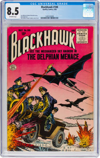 Blackhawk #100 (Quality, 1956) CGC VF+ 8.5 Off-white pages