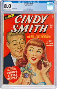 Cindy Comics #39 (Timely, 1950) CGC VF 8.0 Off-white to white pages