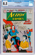 Silver Age (1956-1969):Superhero, Action Comics #255 (DC, 1959) CGC VF+ 8.5 Off-white to whitepages....