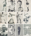 Boxing Cards:General, 1920's - 1930's Exhibit Heavyweights Partial Set (52/64). ...