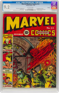 Marvel Mystery Comics #13 Chicago Pedigree (Timely, 1940) CGC NM- 9.2 Off-white pages