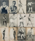 Boxing Cards:General, Rare 1921-1923 Exhibit Blank Back Boxing Card Variations (12). ...