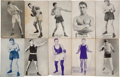 Boxing Cards:General, 1925 (Undated) Exhibit Boxers (28 Different). ...