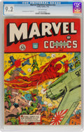 Golden Age (1938-1955):Superhero, Marvel Mystery Comics #33 (Timely, 1942) CGC NM- 9.2 Off-white pages....