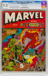 Marvel Mystery Comics #24 (Timely, 1941) CGC VF/NM 9.0 Off-white pages