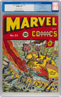 """Golden Age (1938-1955):Superhero, Marvel Mystery Comics #21 Davis Crippen (""""D"""" Copy) Pedigree (Timely, 1941) CGC VF/NM 9.0 Cream to off-white pages...."""