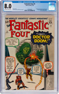 Silver Age (1956-1969):Superhero, Fantastic Four #5 (Marvel, 1962) CGC VF 8.0 Off-white to whitepages....