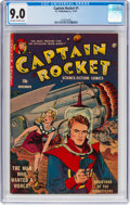 Golden Age (1938-1955):Science Fiction, Captain Rocket #1 (P.L. Publishing Co., 1951) CGC VF/NM 9.0Off-white to white pages....