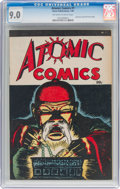 Golden Age (1938-1955):Crime, Atomic Comics #1 (Green Publishing Co., 1946) CGC VF/NM 9.0 Off-white to white pages....