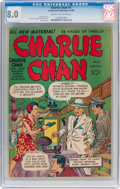 Golden Age (1938-1955):Crime, Charlie Chan #1 (Crestwood/Headline, 1948) CGC VF 8.0 Cream to off-white pages....