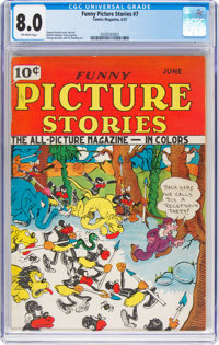 Funny Picture Stories #7 (Comics Magazine Co., 1937) CGC VF 8.0 Off-white pages