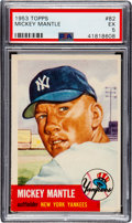 Baseball Cards:Singles (1950-1959), 1953 Topps Mickey Mantle #82 PSA EX 5....