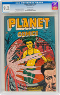 Golden Age (1938-1955):Science Fiction, Planet Comics #49 (Fiction House, 1947) CGC NM- 9.2 Off-whitepages....
