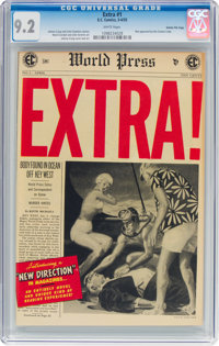 Extra! #1 Gaines File Pedigree 11/12 (EC, 1955) CGC NM- 9.2 White pages