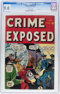 Golden Age (1938-1955):Crime, Crime Exposed #1 (Atlas, 1948) CGC VF/NM 9.0 Off-white pages....
