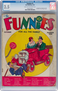 The Funnies #1 (Dell, 1936) CGC GD+ 2.5 Light tan to off-white pages