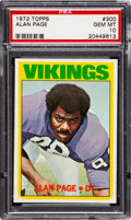 Football Cards:Singles (1970-Now), 1972 Topps Alan Page #300 PSA Gem Mint 10....
