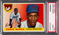 Baseball Cards:Singles (1950-1959), 1955 Topps Ernie Banks #28 PSA Mint 9 - None Higher....