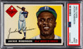 Baseball Cards:Singles (1950-1959), 1955 Topps Jackie Robinson #50 PSA Mint 9 - Only One Higher....