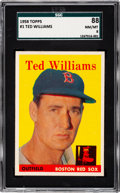 Baseball Cards:Singles (1950-1959), 1958 Topps Ted Williams #1 SGC 88 NM/MT 8....