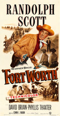 """Movie Posters:Western, Fort Worth (Warner Brothers, 1951). Three Sheet (41"""" X 79"""").. ..."""