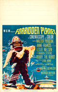 "Movie Posters:Science Fiction, Forbidden Planet (MGM, 1956). Framed and Matted Window Card (Card:14"" X 22"", Frame: 24"" X 16.25"") with Autographed C..."