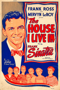 "The House I Live In (RKO, 1945). Silk Screen Poster (40"" X 60"")"