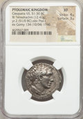Ancients:Greek, Ancients: PTOLEMAIC EGYPT. Cleopatra VII Thea Neotera (51-30 BC). AR stater or tetradrachm (26mm, 12.41 gm, 12h). NGC XF 4/5 - 3/5....