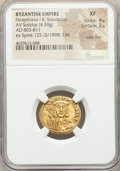 Ancients:Byzantine, Ancients: Nicephorus I and Stauracius (AD 803-811). AV solidus(20mm, 4.39 gm, 6h). NGC XF 4/5 - 3/5, wavy flan....