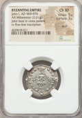 Ancients:Byzantine, Ancients: John I Tzimisces (AD 969-976). AR miliaresion (23mm, 2.61gm, 12h). NGC Choice XF 5/5 - 3/5, scuff....