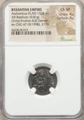 Ancients:Byzantine, Ancients: Andronicus III Paleologus (AD 1328-1341). AR reducedbasilicon (16mm, 0.81 gm, 6h). NGC Choice VF 4/5 - 4/5....