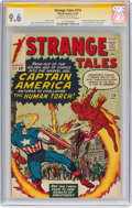 Silver Age (1956-1969):Superhero, Strange Tales #114 Signature Series - Stan Lee (Marvel, 1963) CGCNM+ 9.6 Off-white to white pages....