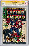Silver Age (1956-1969):Superhero, Captain America #100 Signature Series (Stan Lee) - Western Penn Pedigree (Marvel, 1968) CGC NM/MT 9.8 White pages....