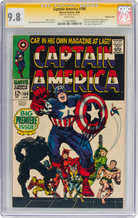 Captain America #100 Signature Series (Stan Lee) - Western Penn Pedigree (Marvel, 1968) CGC NM/MT 9.8 White pages