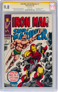 Iron Man and Sub-Mariner #1 Signature Series - Stan Lee (Marvel, 1968) CGC NM/MT 9.8 White pages