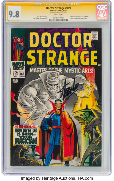 Doctor Strange #169 Signature Series - Stan Lee (Marvel, 1968) CGC NM/MT 9.8 White pages....