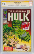 Silver Age (1956-1969):Superhero, The Incredible Hulk #102 Signature Series - Stan Lee (Marvel, 1968) CGC NM/MT 9.8 White pages....