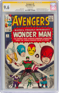 The Avengers #9 Signature Series - Stan Lee (Marvel, 1964) CGC NM+ 9.6 Off-white pages