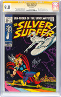 Silver Age (1956-1969):Superhero, The Silver Surfer #4 Signature Series - Stan Lee (Marvel, 1969) CGCNM/MT 9.8 White pages....