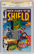 Silver Age (1956-1969):Superhero, Nick Fury, Agent of S.H.I.E.L.D. #1 Signature Series - Stan Lee and Jim Steranko (Marvel, 1968) CGC NM/MT 9.8 White pages....