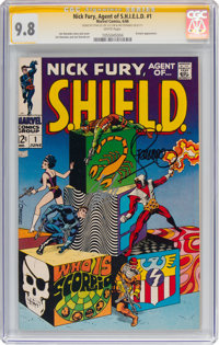 Nick Fury, Agent of S.H.I.E.L.D. #1 Signature Series - Stan Lee and Jim Steranko (Marvel, 1968) CGC NM/MT 9.8 White page...