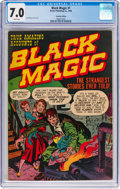 Golden Age (1938-1955):Horror, Black Magic #1 Canadian Edition (Derby Publishing Co., 1950) CGC FN/VF 7.0 White pages....