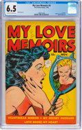 Golden Age (1938-1955):Romance, My Love Memoirs #9 (Fox Features Syndicate, 1949) CGC FN+ 6.5Off-white to white pages....