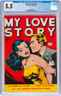 Golden Age (1938-1955):Romance, My Love Story #4 (Fox, 1950) CGC FN- 5.5 Off-white pages....