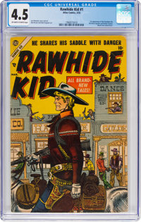 Rawhide Kid #1 (Marvel, 1955) CGC VG+ 4.5 Off-white to white pages