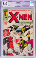 Silver Age (1956-1969):Superhero, X-Men #1 (Marvel, 1963) CGC Apparent VF 8.0 Moderate (A-3)Off-white pages....