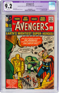 Silver Age (1956-1969):Superhero, The Avengers #1 (Marvel, 1963) CGC Apparent NM- 9.2 Moderate/Extensive (A-4) White pages....