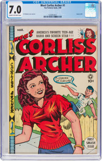 Meet Corliss Archer #1 (Fox, 1948) CGC FN/VF 7.0 Cream to off-white pages